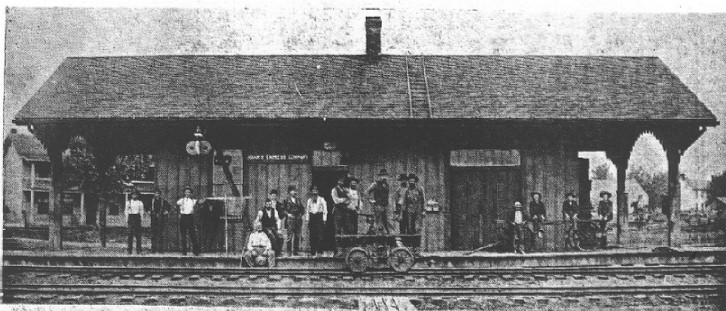 Dahlgren Depot 1890s, The Yesterdays of Hamilton County